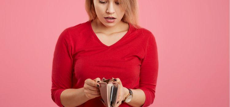 Een dringend geld tekort